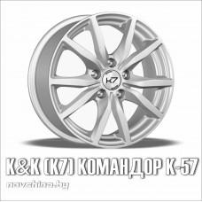 К7 Командор К-57 (цвет: серебро) // 6,5x15 5x100 / диск литой