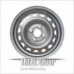 TREBL 64A50C // 6,0x15 4x100 ET50 D60,1 / диск стальной / цвет: серебро